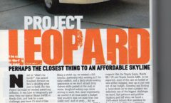 Tracking down cars: Project Leopard